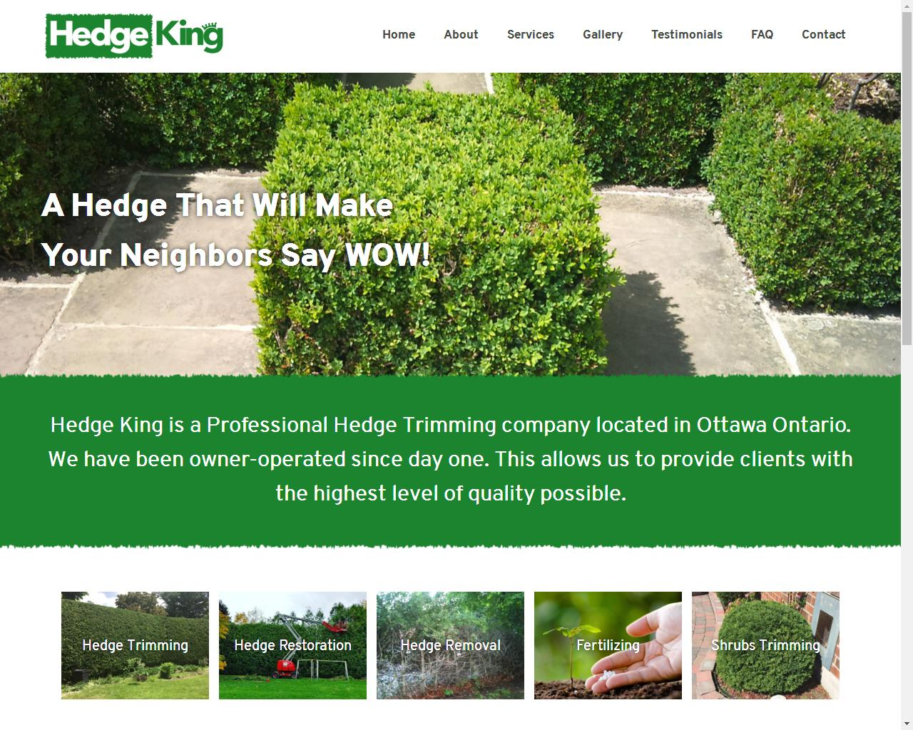 Hedge King Ottawa