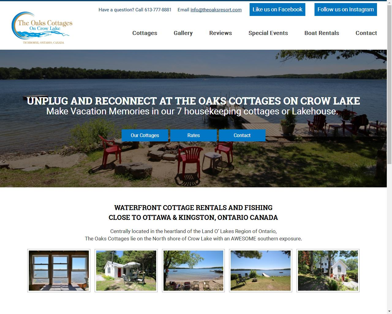 ToThe Oaks Cottages on Crow Lake