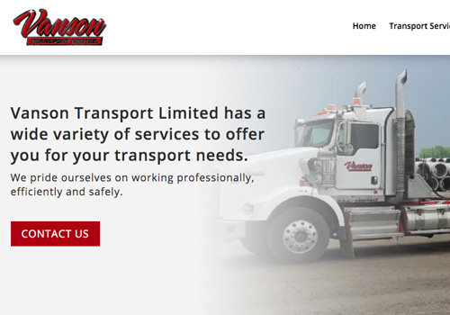 Transport Web Design